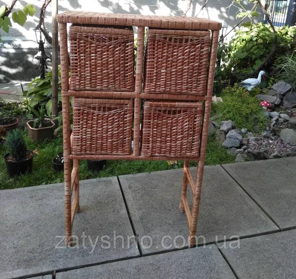 Комод шаф плетеный с ящиками