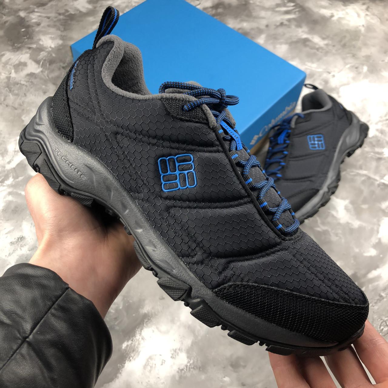8976e908ea65 Оригинальные зимние кроссовки Columbia Firechamp 2 Fleece Black Hyper Blue  , фото 1
