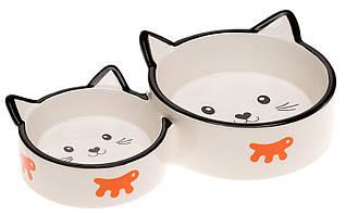 Ferplast VENERE DUO Керамическая двойная миска для кошек