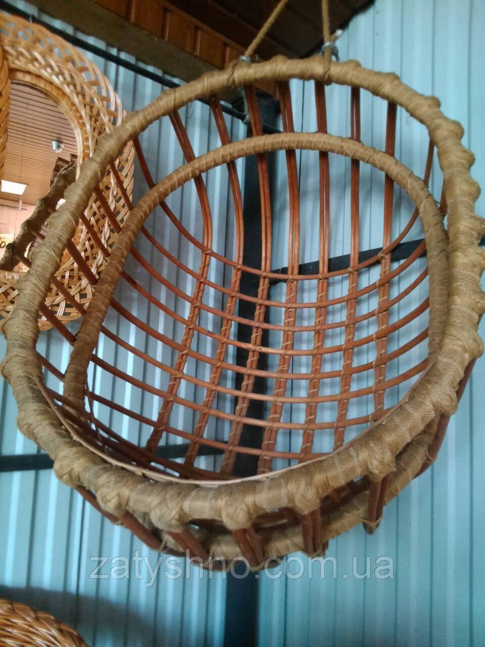 Подвесное кресло плетеное кокон