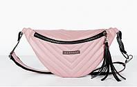 5eb41ad14001 Поясная сумка на пояс барсетка розовая MOLL HARVEST (сумки, женская сумка,  кондукторка,