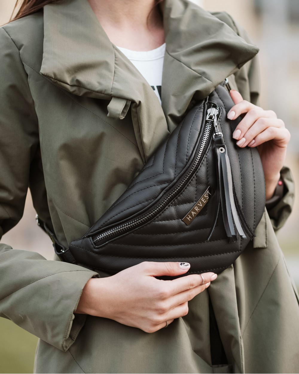 7154fd647b5d Поясная сумка на пояс барсетка MOLLY HARVEST черная (сумки, женская су 2 ...