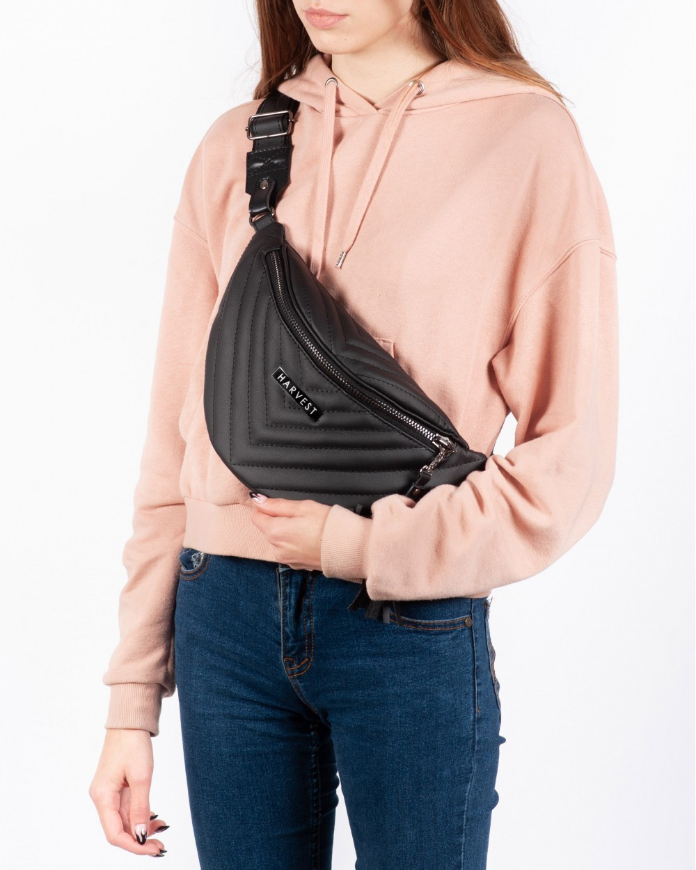 d6ad8556526c ... Поясная сумка на пояс барсетка MOLLY HARVEST черная (сумки, женская су 3