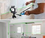 Нівелір лазерний (рівень) з зеленим променем MyTools 3D-Mark, фото 3