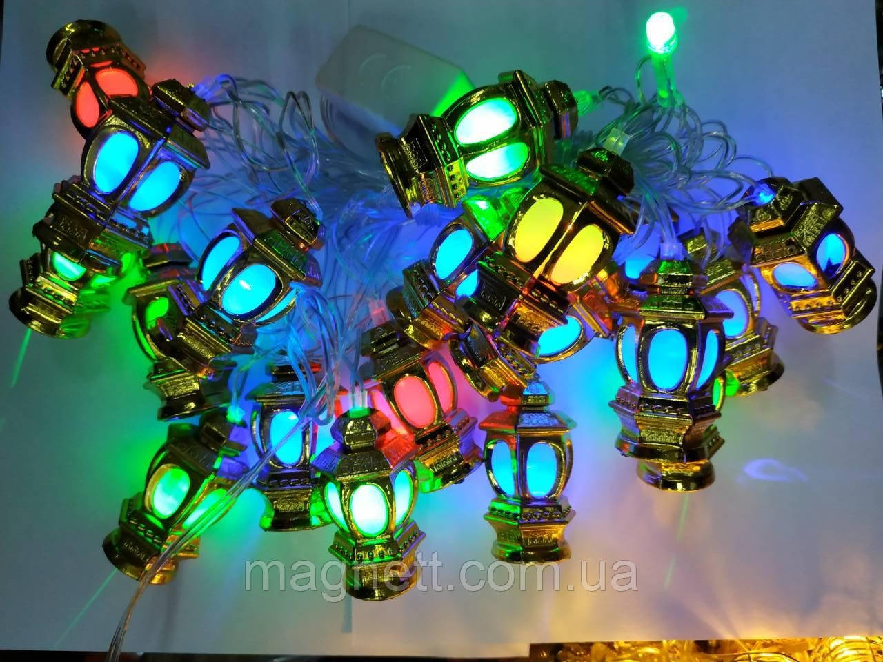 Оригинальная гирлянда фонарики 5 метров LED 20 (средние)