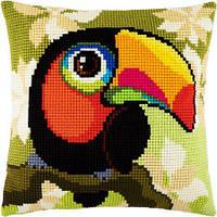 Набор для вышивки подушки крестом Чарівниця Z-41 Тукан