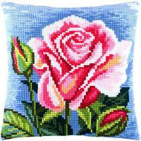 Набор для вышивки подушки крестом Чарівниця Z-31 Роза