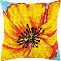Набор для вышивки подушки крестом Чарівниця Z-38 Жёлтый цветок