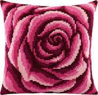 Набор для вышивки подушки крестом Чарівниця Z-02 Роза