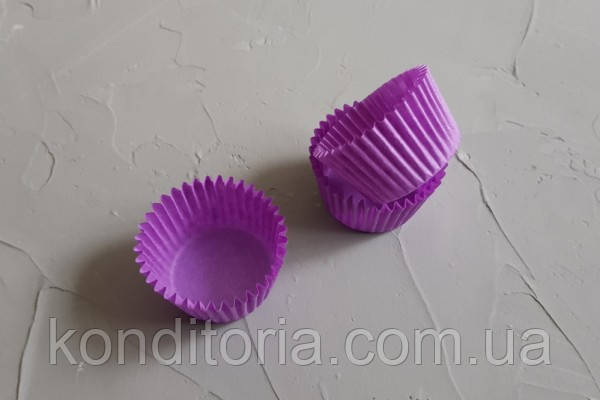 Фиолетовые бумажные формы для маффинов, кексов