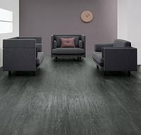 Forbo  w60343 dark silver rough oak  виниловая плитка Allura Wood