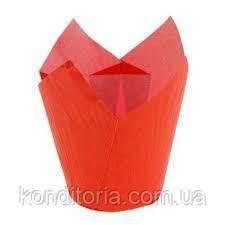 Красные бумажные формы для маффинов, кексов