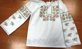 Пошита блузка дитяча для вишивки ШВД-01 (Княгиня Ольга)