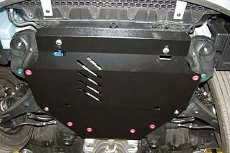 Защита картера (двигателя) и Коробки передач на КИА Спортейдж 2 (KIA Sportage II) 2004-2010 г (металлическая/вместо пыльника)