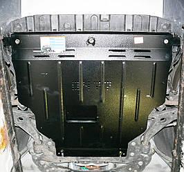 Защита картера (двигателя) и Коробки передач на КИА Спортейдж 2 (KIA Sportage II) 2004-2010 г (металлическая/сверху пыльника)