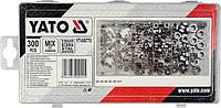 Гайки из нержавеющей стали м3-м10 в пластиковой коробке набор 300 штук Yato YT-06773
