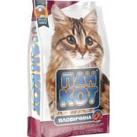 Пан-Кот ГОВЯДИНА Сухой корм для взрослых кошек 10 кг.