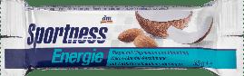 Энергетический батончик для спортсменов Das gesunde Plus Sportness mit  Kokos-Mandel, 35 гр.