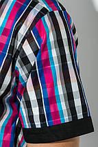 Рубашка мужская с однотонным воротником 50P009 (Черно-малиновый), фото 3
