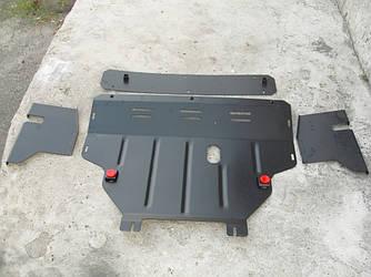 Защита картера (двигателя) и Коробки передач на Мазда СХ-9 I (Mazda CX-9 I) 2006-2016 г (металлическая/закладные)