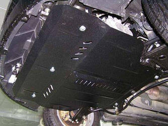 Защита картера (двигателя) и Коробки передач на Мазда СХ-9 I (Mazda CX-9 I) 2006-2016 г (металлическая/клепалки)