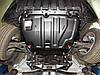 Защита картера (двигателя) и Коробки передач на Мазда СХ-9 I (Mazda CX-9 I) 2006-2016 г (металлическая/клепалки), фото 4