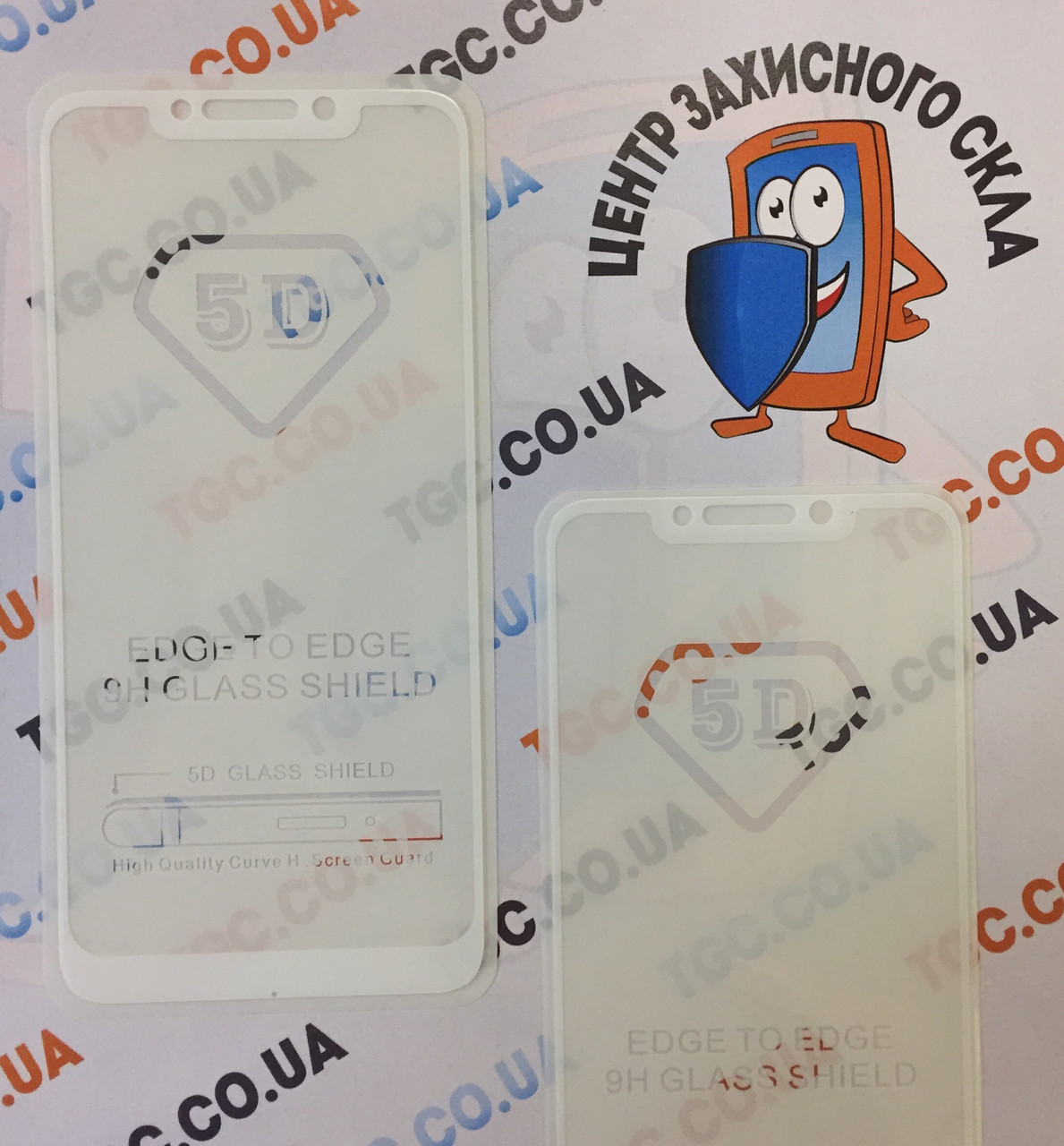 Защитное стекло 5D full glue для XIAOMI  POCOPHONE  F1, - белый