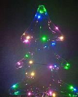 Светящийся шарик-елка, светодиодный шар на палочке