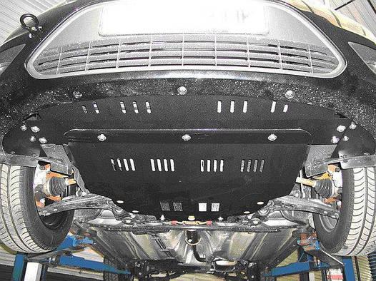 Защита радиатора и двигателя на Мерседес Е (Mercedes E W210) 1995-2002 г (металлическая/2WD)