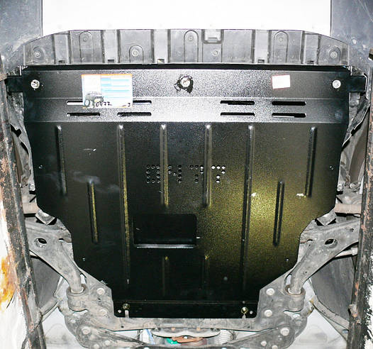 Защита радиатора и двигателя на Мерседес Е (Mercedes E W210) 1995-2002 г (металлическая/4WD)