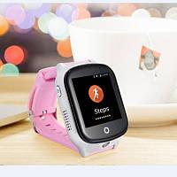 Умные смарт-часы Smart GPS Samtra A19 с розовым ремешком