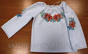 Пошита блузка дитяча для вишивки ШВД-02 (Княгиня Ольга)