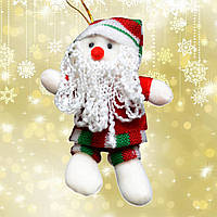 Подвеска мягкая Санта полосатый