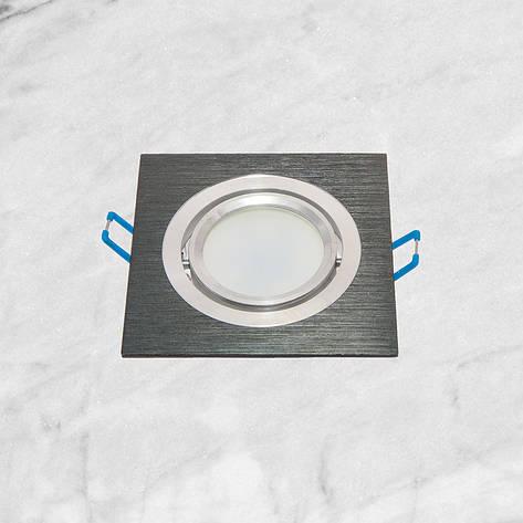 Точечный врезной светильник (47-1235-1 чёрный), фото 2