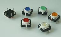 Кнопка 12*12*7mm тактовая с LED подсветкой синяя