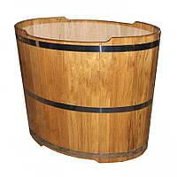Бочка купель овальная SaunaLux (110х70 см, 330 л)
