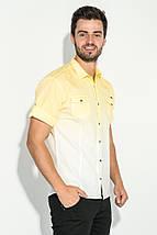 Рубашка мужская градиент 50P022 (Желто-белый), фото 2
