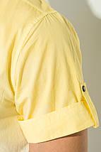 Рубашка мужская градиент 50P022 (Желто-белый), фото 3