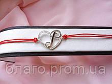 Срібний браслет буква Р