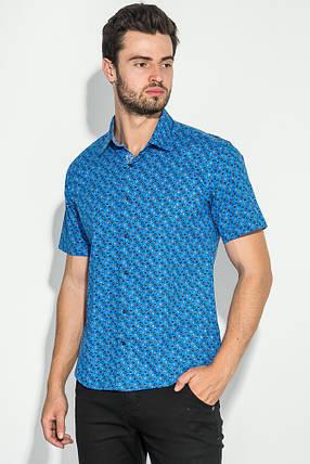 Рубашка мужская принтованная 50P1039-1 (Светло-синий), фото 2