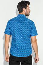 Рубашка мужская принтованная 50P1039-1 (Светло-синий), фото 3