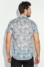 Рубашка мужская принт пейсли, светлая 50P118 (Серый), фото 3