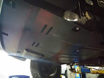 Защита радиатора, двигателя и КПП на Мерседес Вито W639 (Mercedes Vito W639) 2003-2014 г (металлическая/2WD)
