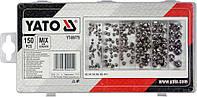 Гайки закрытые полусфера м3-м10 набор в пластиковой коробке 150 штук Yato YT 06775