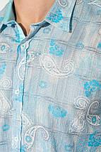 Рубашка мужская принт пейсли, светлая 50P118 (Серо-голубой), фото 2