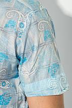 Рубашка мужская принт пейсли, светлая 50P118 (Серо-голубой), фото 3