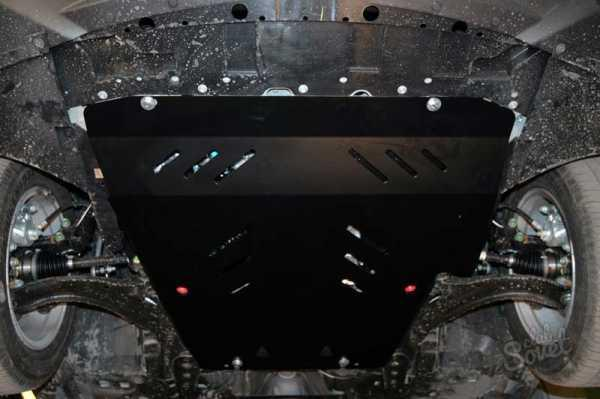 Защита картера (двигателя) и Коробки передач на МГ 5 (MG 5) 2012 - ... г