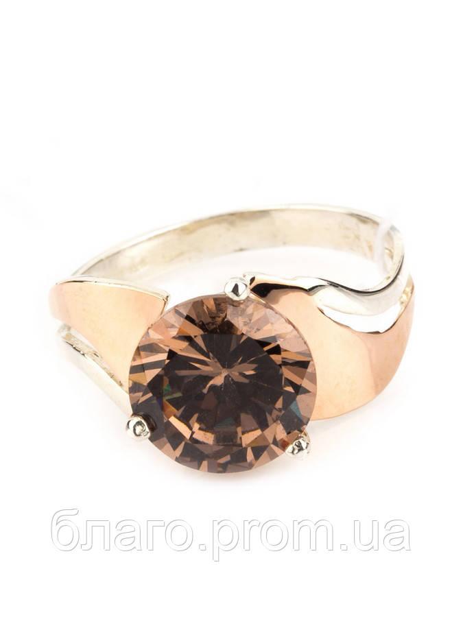 Кольцо оригинальное с золотом Амалия