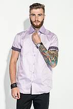 Рубашка мужская однотонная 50P8193 (Сиреневый), фото 2