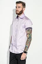 Рубашка мужская однотонная 50P8193 (Сиреневый), фото 3